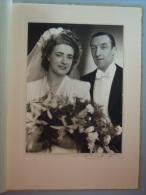 Foto Photo Trouw Marriage Voor 1920 Form. 17 X 23 Cm Op Karton 23,2 X 33,,5 Cm Buyle Ferdinand  Antwerpen Meir 129 - Anonyme Personen