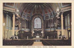 Canada Interior Eglise Notre-Dame 1955