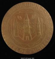 M00327 SCHELDETUNNEL I.M.A.L.S.O., Tunnel Entouré De Deux Femmes Avec Bateau (1933) Et Blason De Anvers, Bronze (126g.) - Belgium