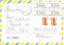 Brasilien 1987 Luftpostmarken Fort Luftpostbrief - Airmail