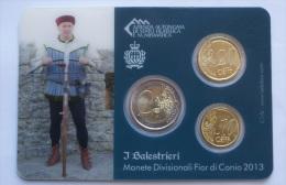 "SAN MARINO - 2013 EURO COINS IN COLLECTION CARDS ""I BALESTRIERI"" 7 - San Marino"