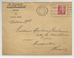 1935 - ENVELOPPE De NICE Avec OMEC BEBES - Oblitérations Mécaniques (flammes)