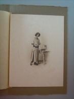 Foto Photo Jonge Vrouw Jeune Femme Form. 18 X 24 Cm Fotograaf R. Scheffermeyer Mechelen - Anonyme Personen