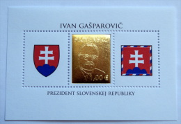 SLOVACCHIA 2013 - SHEET PRESIDENT, GOLDEN STAMP MNH** - Slovacchia