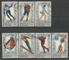 Burundi 1968, Giochi Olimpici Invernali Di Grenoble (o), Serie Completa 7 Valori - Inverno1968: Grenoble