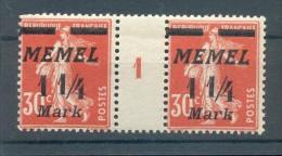 Memel 87Zw Ms ZWISCHENSTEG**POSTFRISCH (45278 - Klaipeda