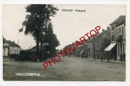 INGELMUNSTER-Statie-Plaats-Carte Photo Allemande-Guerre 14-18-1WK-BELGIEN-BELGIQUE-FLANDERN-Flandres- - Roeselare