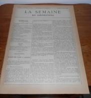 La Semaine Des Constructeurs. N°41. 9  Avril 1887.Villa De M. R.... à Enghien Les Bains. Pavillon D'Hôpital à Plauen. Sa - Magazines - Before 1900