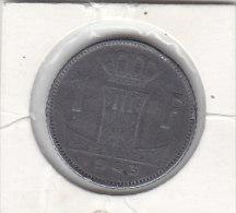 1 FRANC Zinc Léopold III 1943 FL/FR - 04. 1 Franco