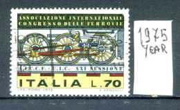- ITALIA - REPUBBLICA - Singolo - Year 1975 - Congresso  Internaz. Ferrovie - Viaggiato - Traveled - Reiste. - 1971-80: Usati
