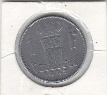 1 FRANC Zinc Léopold III 1942 FL/FR - 1934-1945: Leopold III