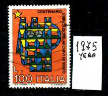 - ITALIA - REPUBBLICA - Singolo - Year 1975 - 100° Archivi Di Stato - Viaggiato - Traveled - Reiste. - 1971-80: Usati