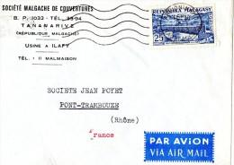 MARCOPHILIE-LETTRE A SOCIETE JEAN POYET(LOT K17) - Madagascar (1960-...)