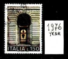 - ITALIA - REPUBBLICA - Singolo - Year 1976 - 100° Avvocatura Di Stato - Viaggiato - Traveled - Reiste. - 1971-80: Usati