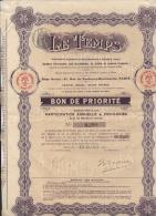 Le Temps Société D'assurances Bon De Priorité - Actions & Titres