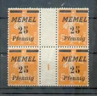 Memel 58ZW+Ms ZWISCHENSTEG**POSTFRISCH (X4584 - Klaipeda