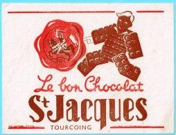 BUVARD BUVARDS Algerie Algeria France Publicité Pub Chocolate Chocolat ST JACQUES Tourcoing Cavalier - Alimentos