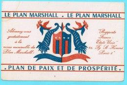 BUVARD BUVARDS Algerie Algeria France Publicité Pub Plan Marshall Etat Unis Paix Prosperité Peace Prosperity - Papel Secante