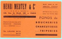 BUVARD BUVARDS Algerie Algeria France Publicité Pub Henri Meutey Cie Fonds Boucheries Charcuteries Triperis  Funds - Alimentos
