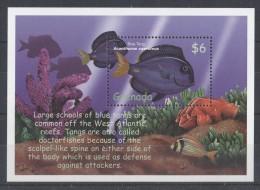 Grenada - 2000 Tropical Marine Fauna Block (1) MNH__(TH-2302) - Grenada (1974-...)