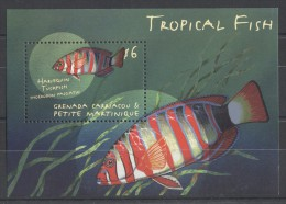 Grenada Grenadines - 2000 Tropical Fish (I) Block (2) MNH__(TH-7698) - Grenada (1974-...)