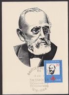 DDR 1165  J. A. Smoler Bautzen Maxkarte Von 1966, Zweisprachiger St., Sorbischer Wissenschaftler - DDR