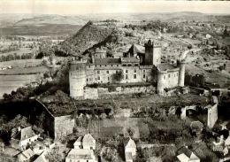 CPSM   BRETENOUX      Le   Village , Le Chateau De Castelnau Et Ses Environs Vu Du Ciel - Bretenoux