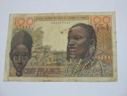 100 Francs 20.3.1961- COTE D´IVOIRE - Banque Centrale Des Etats De L´Afrique De L´Ouest. - Côte D'Ivoire