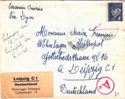 Francia Via Lyon To Germania 1943 Cover - Artist Proofs