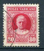 Vaticano - Conciliazione (1929) 80c. Used Sass. 8 - Vatican