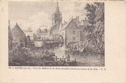 Guise - Vue Du Beffroi Et De Deux Moulins - Guise