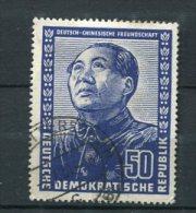 Germany China Friendship 1951 Sc 84 Mi 288 Used  Mao Tse-Tung CV 55 Euro - Mao Tse-Tung
