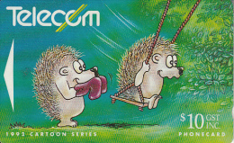 NEW ZEALAND(GPT) - Cartoons/Hedgehog And Swing, CN : 121C(normal 0), Used - Neuseeland