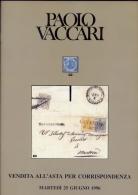 Antichi Stati Italiani E Occasioni - Vaccari - Catalogo Asta - 1996 - Catalogues For Auction Houses
