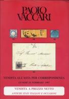 Antichi Stati Italiani E Occasioni - Vaccari - Catalogo Asta - 1997 - Cataloghi Di Case D'aste