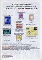 Gobel E Hamilton Filatelia - Catalogo - 2013 - Cataloghi Di Case D'aste