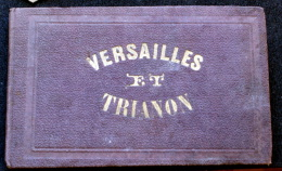 1858s Versailles & Trianon PALACE & GARDENS Engraved Plates MINIATURE Rare Print - 1801-1900