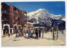 Près Vallouise-PUY-SAINT-VINCENT-1977- Vue Générale,au Fond, Le Mont Brison( Trés Animée,ski),cpsm 10x15 éd  Cap-Théojac - Autres Communes