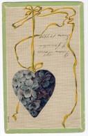 Saint Valentine's Day Hart Shaped Pendant Vintage Original Postcard Cpa Ak (W3_2530) - San Valentino