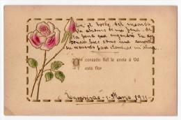 Saint Valentine's Day Rose Vintage Original Postcard Cpa Ak (W3_2531) - San Valentino