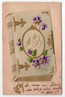 New Year Real Carte Systeme Book Opening Vintage Original Postcard Cpa Ak (W3_2535) - Año Nuevo