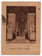 Scala Santa Roma Cleman Cromolitografia Vintage Original Postcard Cpa Ak (W3_2536) - Churches