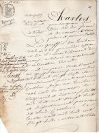 VP74 - VILLEVAUDE X DAMPMART 1826 - Acte Bordereau De Collocation - Manuscripts