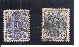 Finlandia-Finland Nº Yvert  32(A)-(B) (usado) (o) - 1856-1917 Administration Russe