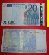GERMANIA GERMANY 20 EURO 2002 DRAGHI SERIE X 37143773651 E008F6  AUNC QFDS - EURO