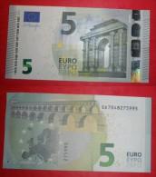 ITALIA ITALY 5 EURO 2013 DRAGHI SERIE SD 7048275995 S006G3 AUNC QFDS NEW BANKNOTE NUOVA BANCONOTA - 5 Euro