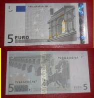 OLANDA HOLLAND 5 EURO 2002 TRICHET SERIE P  26822330767 E010D5 AUNC QFDS NEDERLAND NETHERLANDS - 5 Euro