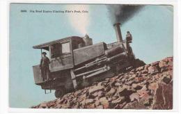 Cog Incline Railroad Train Pike's Peak Colorado 1910c Postcard