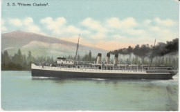 'S.S. Princess Charlotte' Canada Canadian Steamer, C1910s Vintage Postcard - Paquebote