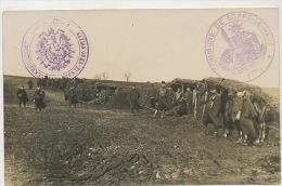 Soppe Le Haut Carte Photo Guerre 1914 WWI Poilus Cachet Allemand Et France Voir Texte Dos - Other Municipalities